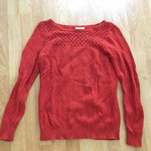 Ann Taylor LOFT Orange Sweater size Small